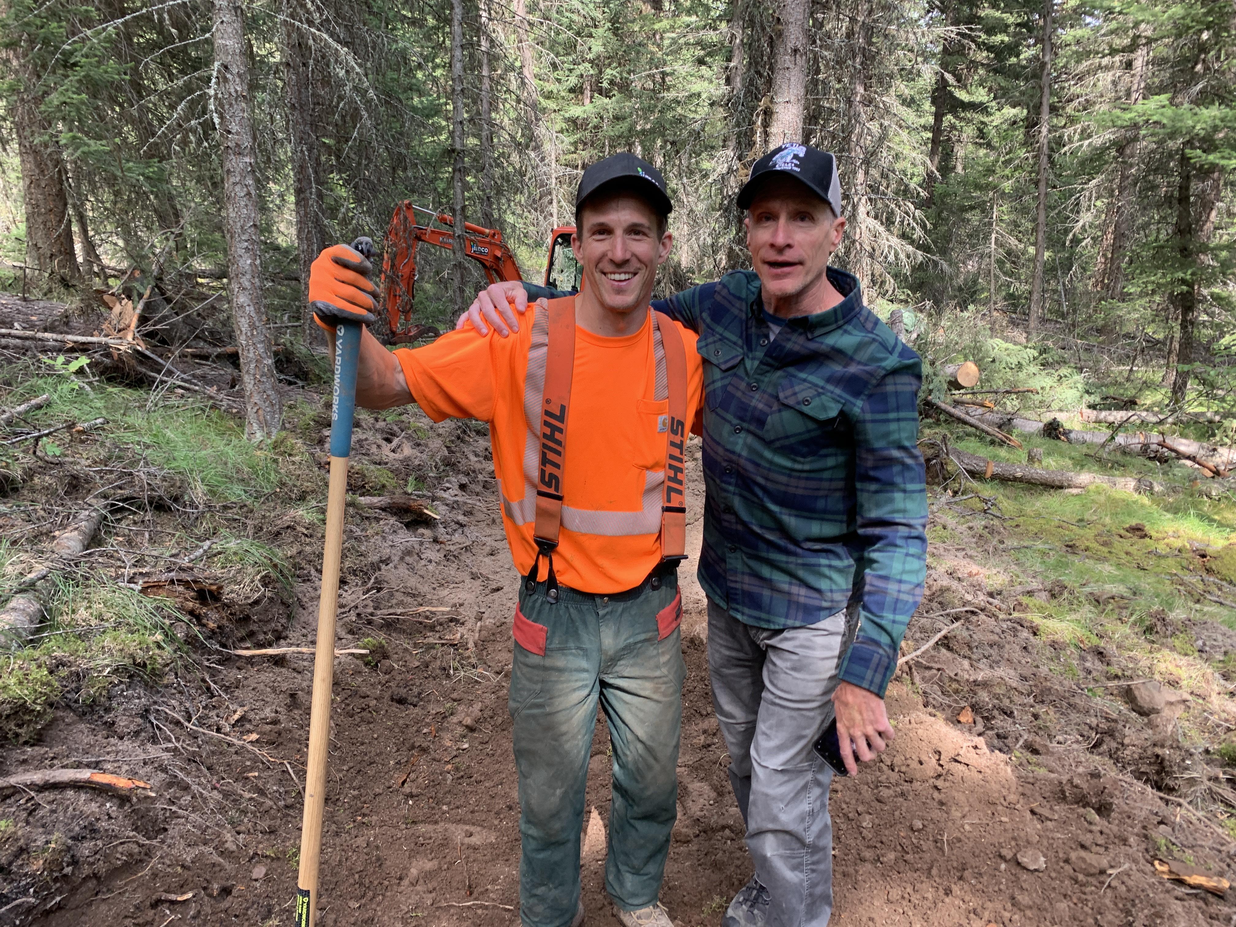 100 Mile House mountain biking Steve Law and James Doerfling